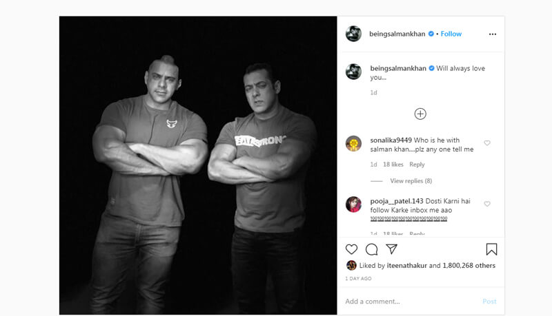 salman khan post
